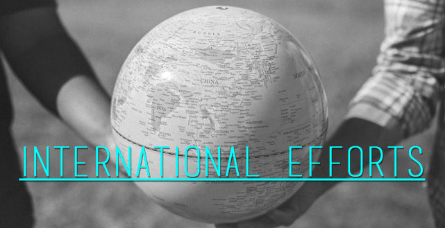 Click here for information about international efforts